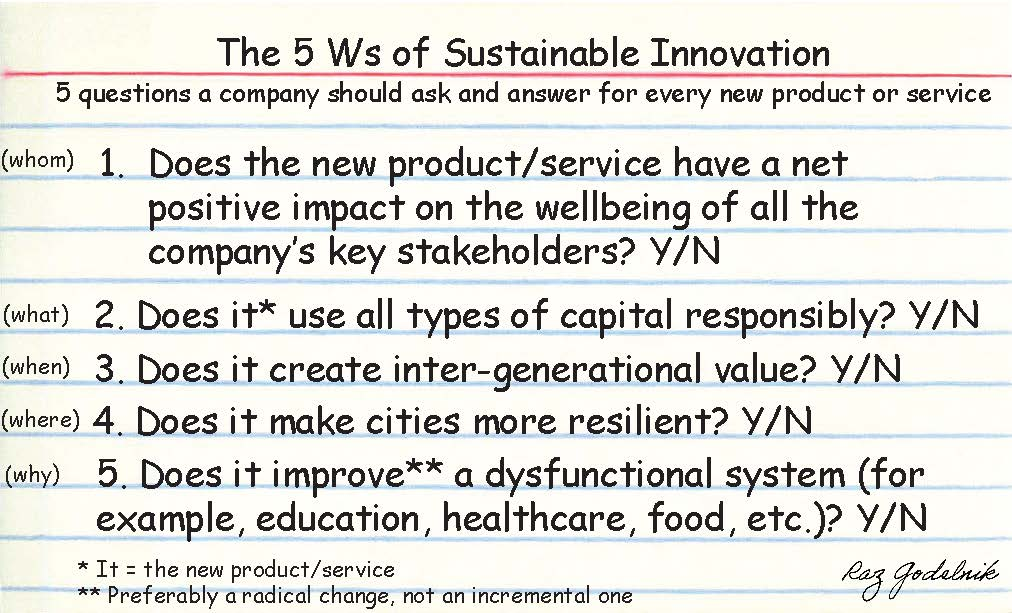 Desirability feasibility viability sustainable for Product and service design