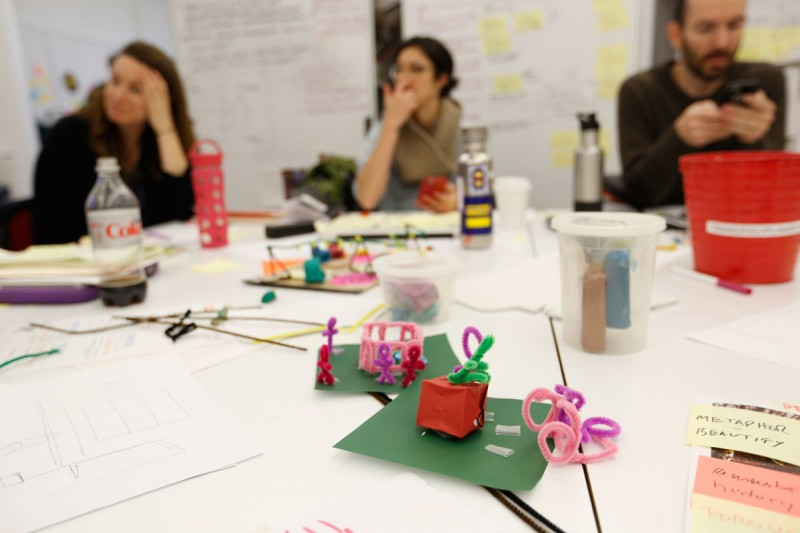 Fellows worked with a team of instructors from IDEO t to explore ideas through rapid prototypes.