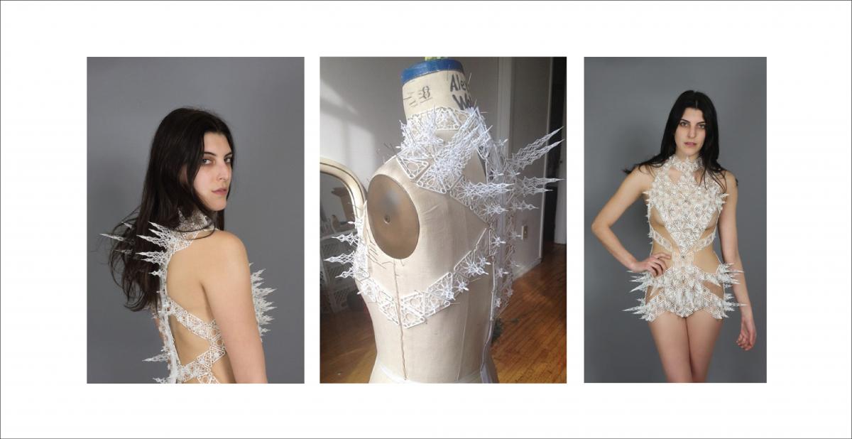 3D Printed Spire Dress
