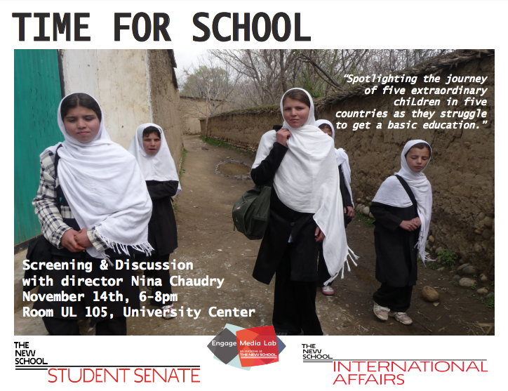 Time For School: Screening and Q&A with Director Nina Chaudry.