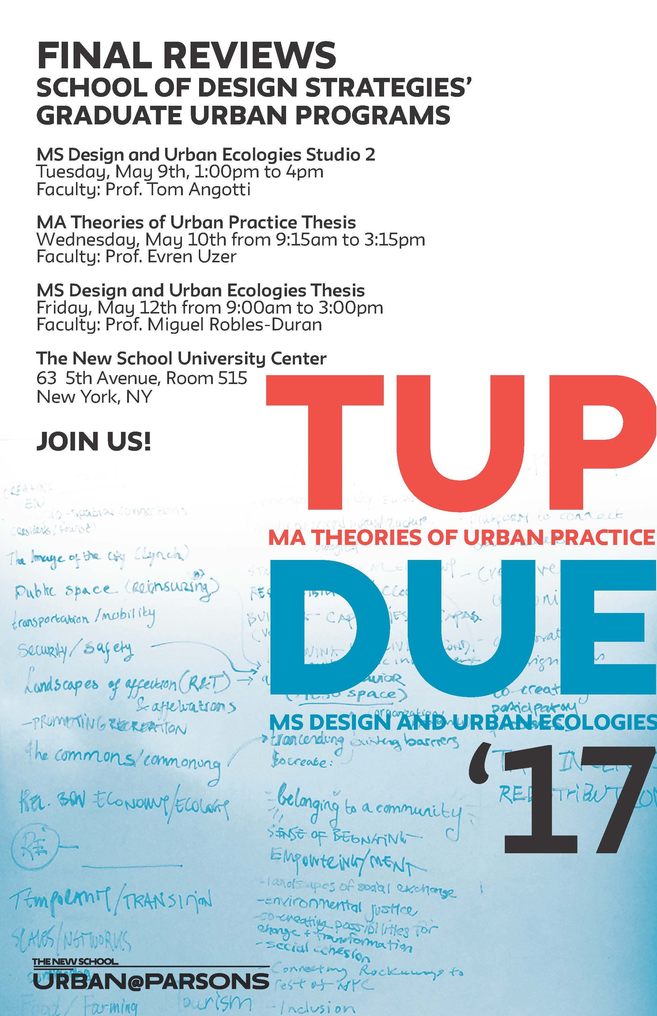 urban thesis topics